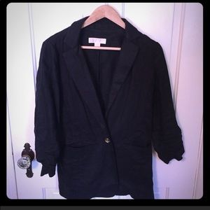 Michael Kors black linen Blazer